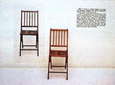 """Joseph Kosuth """"Viena ir tryskėdės"""""""