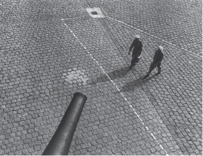 """A.Kezys """"Invalidų rūmų kiemas"""". Paryžius, 1962"""