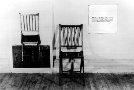 """J.Kosuth """"Viena ir trys kėdės"""""""