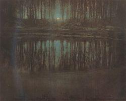 Edward Steichen. Mėnulio šviesa. 1904