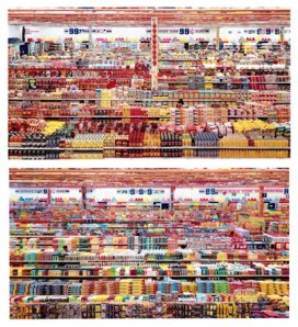 Andreas Gursky, 99 Cent II Diptychon, 2001