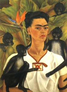 Fida_Kahlo selfportrait with monkeys 1943
